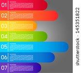 rainbow lable. | Shutterstock .eps vector #145351822