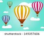 hot air balloon in the sky | Shutterstock .eps vector #145357606