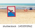 Sign On The Beach Prohibiting...