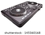 dj mixer isolated on white... | Shutterstock . vector #145360168