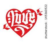 love typography. heart... | Shutterstock .eps vector #145360522
