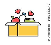 food donations color icon.... | Shutterstock .eps vector #1453633142