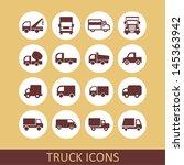 truck icons   Shutterstock .eps vector #145363942