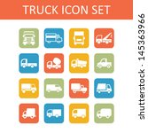 truck icons for site | Shutterstock .eps vector #145363966