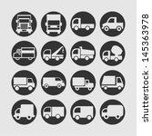 truck icons   Shutterstock .eps vector #145363978