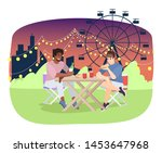 friends eating pizza at... | Shutterstock .eps vector #1453647968