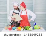 culinary family concept. couple ... | Shutterstock . vector #1453649255