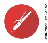 hair curler flat design long...   Shutterstock .eps vector #1453654565