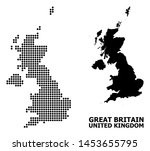 dotted map of united kingdom...   Shutterstock .eps vector #1453655795