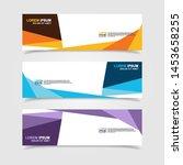 vector abstract web banner...   Shutterstock .eps vector #1453658255