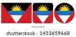 antigua and barbuda flag icon... | Shutterstock .eps vector #1453659668