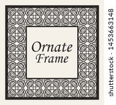 decorative frame and border in... | Shutterstock .eps vector #1453663148