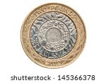 British Two Pound Coin Isolated ...