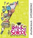back to school vector design... | Shutterstock .eps vector #1453680362