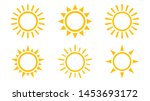 sun icon set. isolated vector...