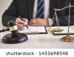 justice and agreement concept ... | Shutterstock . vector #1453698548
