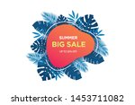summer sale banner template....   Shutterstock .eps vector #1453711082
