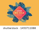 summer sale banner template....   Shutterstock .eps vector #1453711088