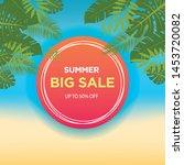 summer sale banner template....   Shutterstock .eps vector #1453720082