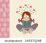 pretty young girl in love ...   Shutterstock .eps vector #145373248