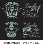 set of illustrations in vintage ... | Shutterstock .eps vector #1453748132