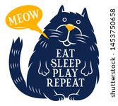cute cat and motivational quote ... | Shutterstock .eps vector #1453750658