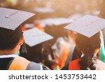 Backside Graduation Hats During ...