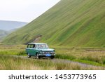 Small photo of MOFFAT, SCOTLAND - JUNE 29, 2019: 1967 Hillman Super Minx Estate car in a classic car rally en route towards the town of Moffat, Dumfries and Galloway