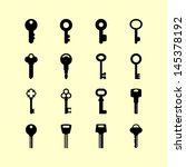 set of key icons | Shutterstock .eps vector #145378192