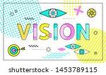 vision conceptual poster ... | Shutterstock . vector #1453789115