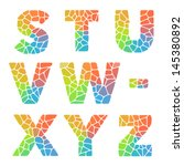 vector alphabet mosaic colorful ... | Shutterstock .eps vector #145380892