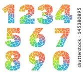 vector alphabet mosaic colorful ... | Shutterstock .eps vector #145380895