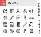 set of bakery icons such as...   Shutterstock .eps vector #1453813778