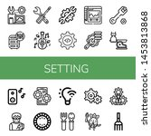 set of setting icons such as... | Shutterstock .eps vector #1453813868