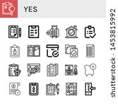 set of yes icons such as...