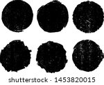 grunge uneven stamps collection.... | Shutterstock .eps vector #1453820015