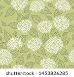 elegant pattern with hydrangea... | Shutterstock .eps vector #1453826285
