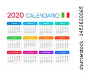 vector template of color 2020... | Shutterstock .eps vector #1453830065