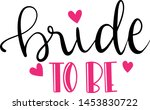bride to be decoration for t... | Shutterstock .eps vector #1453830722