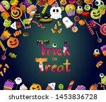 halloween background. trick or... | Shutterstock .eps vector #1453836728