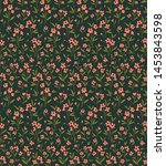 cute floral pattern in the... | Shutterstock .eps vector #1453843598