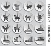 oil rig related icons set on...   Shutterstock .eps vector #1453854068