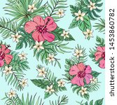 tropic seamless pattern with... | Shutterstock .eps vector #1453860782