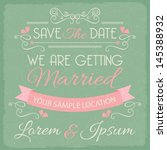 wedding invitation card... | Shutterstock .eps vector #145388932