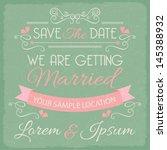 wedding invitation card... | Shutterstock .eps vector #145388932