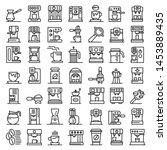 coffee machine icons set.... | Shutterstock .eps vector #1453889435