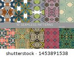 collection of seamless patterns.... | Shutterstock .eps vector #1453891538