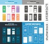 mobile wireframe app ui kit 50.