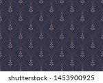 luxury floral art deco seamless ... | Shutterstock .eps vector #1453900925
