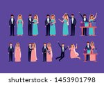 couples wedding love... | Shutterstock .eps vector #1453901798